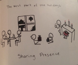 The best part of the holidays is Sharing Presence